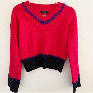 NWT lea & Viola | cable knit contrast sweater